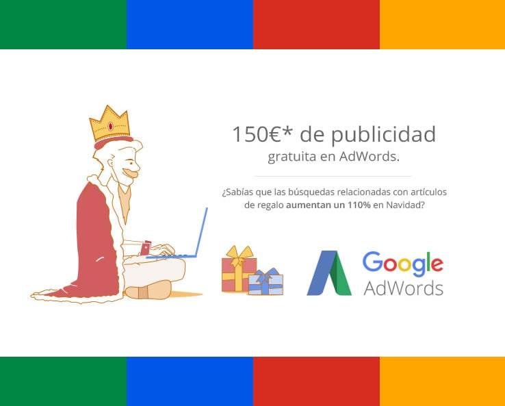 Cupón Google Adwords de Navidad de 150€