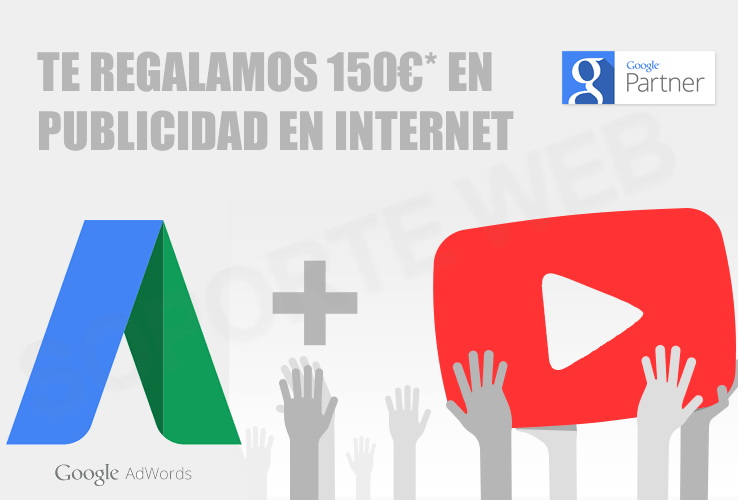 Cupón Google AdWords + YouTube de 150€