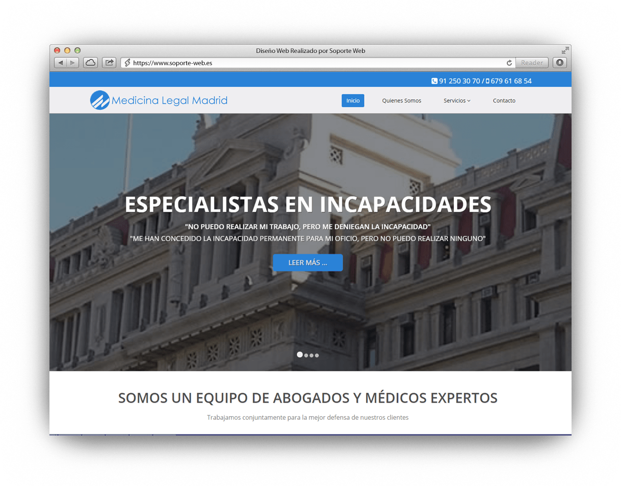 Diseño Web Medicina Legal